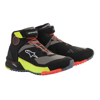 ALPINESTAR CR-X DRYSTAR RIDING SHOES - BLACK YELLOW FLUO RED FLUO