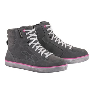 ALPINESTARS J-6 WATERPROOF WOMEN'S RIDING SHOE - LIGHT GRAY FUCHSIA