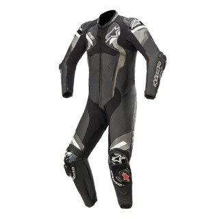 TUTA INTERA ALPINESTARS ATEM V4 LEATHER SUIT -BLACK GRAY WHITE