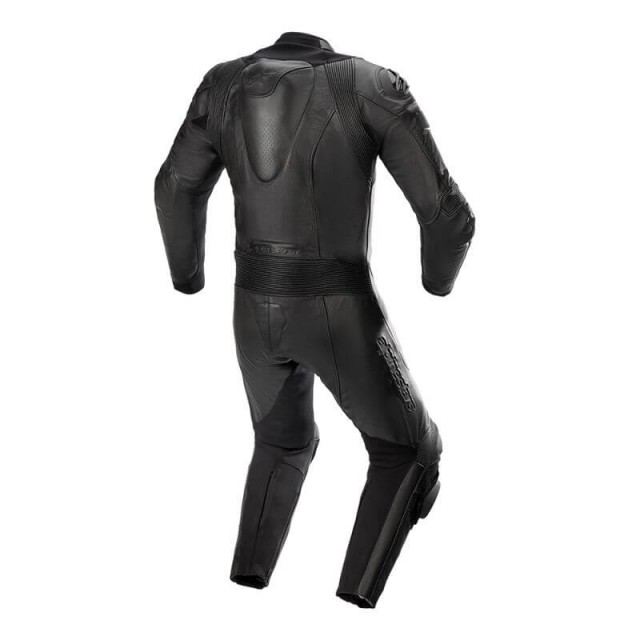 ALPINESTARS GP PLUS V3 GRAPHITE LEATHER SUIT (BACK)