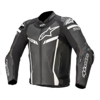 GIACCA IN PELLE ALPINESTARS GP PRO V2 TECH AIR COMPATIBLE - BLACK WHITE