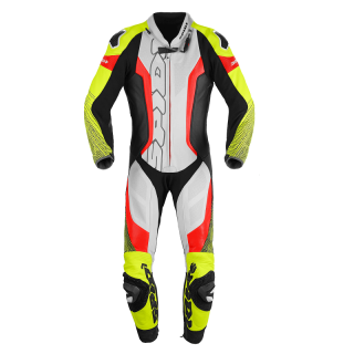 SPIDI SUPERSONIC PERF PRO LEATHER SUIT - BLACK YELLOW FLUO