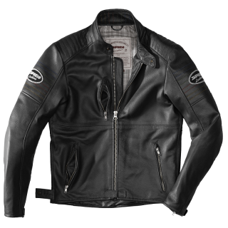 SPIDI CLUBBER LEATHER JACKET - BLACK