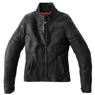 SPIDI VINTAGE LADY LEATHER JACKET - BLACK