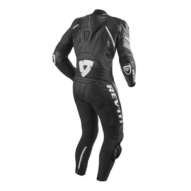 REV'IT ONE PIECE SPITFIRE BLACK WHITE - BACK
