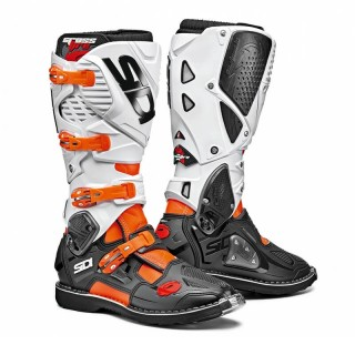 SIDI CROSSFIRE 3 BOOTS - ORANGE FLUO BLACK WHITE
