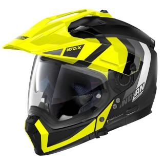 CASCO NOLAN N70.2 X DECURIO N-COM - FLAT BLACK YELLOW