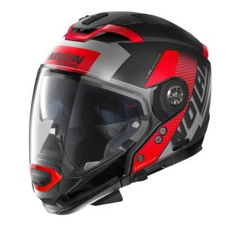 NOLAN N70.2 GT CELERES N-COM HELMET - FLAT BLACK RED