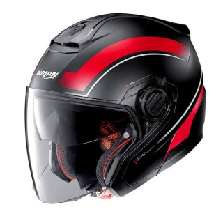 CASCO NOLAN N40.5 RESOLUTE N-COM - FLAT BLACK RED