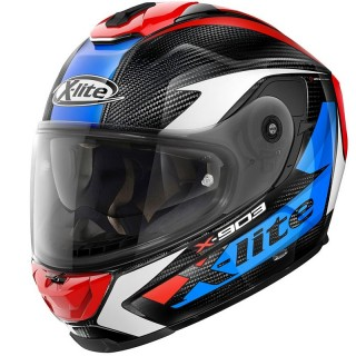 X-LITE X-903 ULTRA CARBON NOBILES N-COM HELMET - CARBON RED BLUE