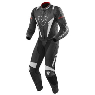 REV'IT ONE PIECE VENOM - BLACK WHITE RED