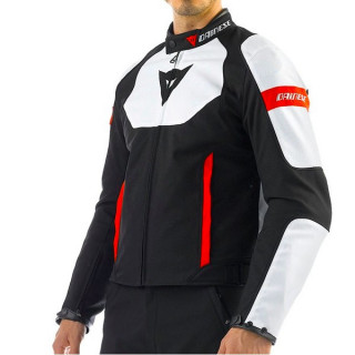 DAINESE AVRO TEX BLACK WHITE RED