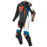 DAINESE D-AIR RACING MISANO 2 PERF. 1PC SUIT - BLACK-MATTE WHITE LIGHT-BLUE