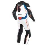 DAINESE D-AIR RACING MISANO 2 PERF. 1PC SUIT - BLACK-MATTE WHITE LIGHT-BLUE - BACK