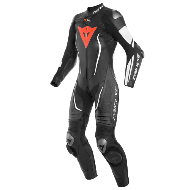 DAINESE MISANO 2 LADY D-AIR RACING  PERF. 1PC SUIT - BLACK BLACK WHITE