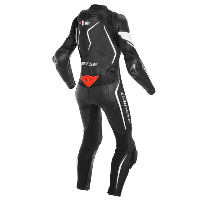 DAINESE MISANO 2 LADY D-AIR RACING  PERF. 1PC SUIT - BLACK BLACK WHITE - BACK