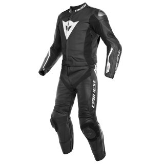 DAINESE AVRO D-AIR 2 PCS SUIT - BLACK BLACK WHITE - BACK
