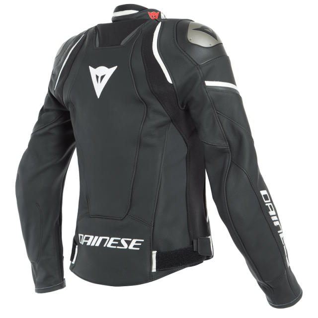 DAINESE RACING 3 D-AIR LADY LEATHER JACKET - BLACK BLACK WHITE - BACK