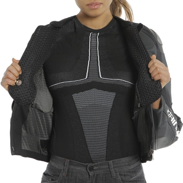 DAINESE RACING 3 D-AIR LADY LEATHER JACKET - IN