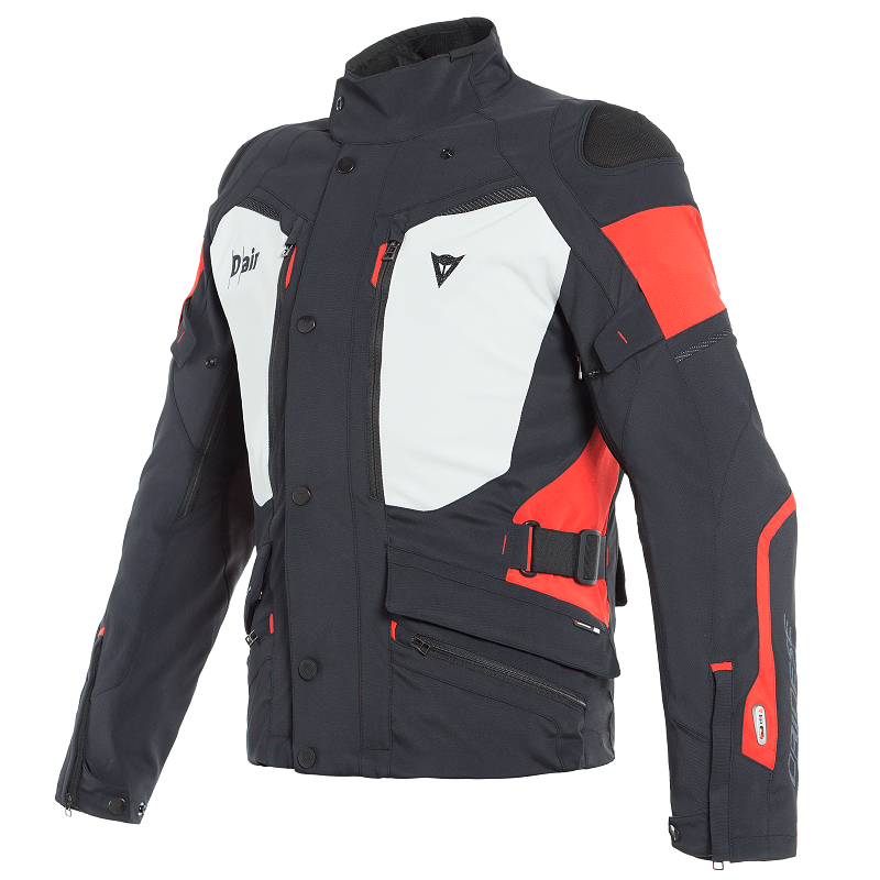 DAINESE CARVE MASTER 2 D-AIR GORE-TEX JACKET - BLACK LIGHT GRAY RED