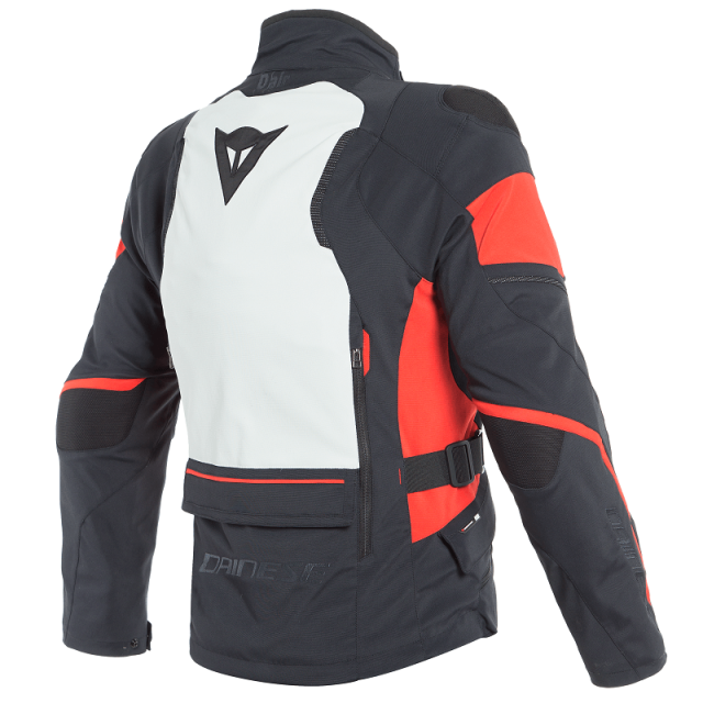 DAINESE CARVE MASTER 2 D-AIR GORE-TEX JACKET - BLACK LIGHT GRAY RED - BACK