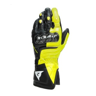 DAINESE CARBON 3 GLOVES - BLACK WHITE FLUO-YELLOW