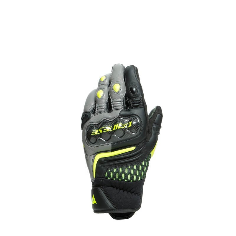 DAINESE CARBON 3 GLOVES SHORT - BLACK GRAY FLUO-YELLOW