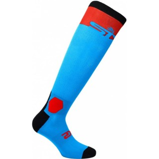 SIX2 HI PERFORMANCE LONG SOCKS - LONG RACING - TORQUOISE RED