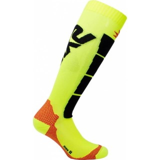 SIX2 LONG MOTOCYCLING SOCKS - SPEED2 - YELLOW BLACK