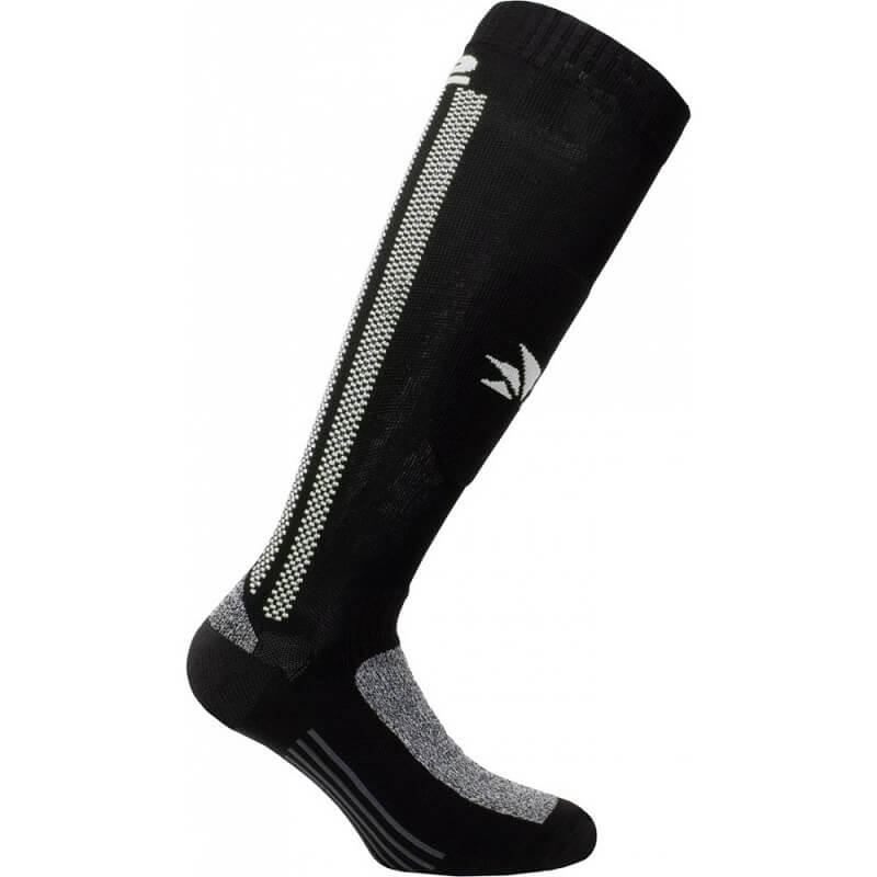 SIX2 LONG REINFORCED SOCKS - MOT2 - BLACK WHITE