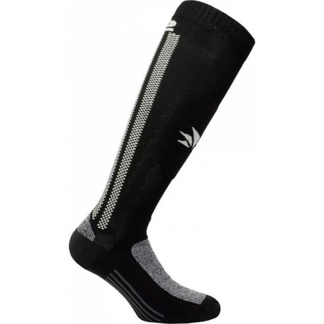 SIX2 LONG REINFORCED SOCKS - MOT2 - BLACK WHITE
