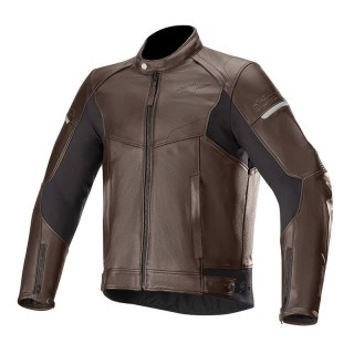 GIACCA ALPINESTARS SP-55 LEATHER JACKET - TOBACCO BROWN