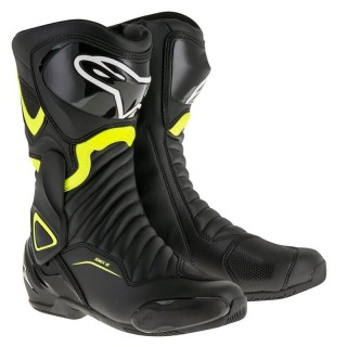 ALPINESTARS SMX-6 V2 BOOT - BLACK YELLOW FLUO