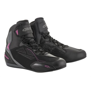 ALPINESTARS STELLA FASTER-3 DRYSTAR SHOES - BLACK DARK GRAY FUCHSIA