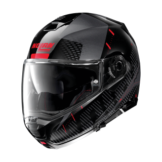 CASCO NOLAN N100.5 LIGHTSPEED N-COM - FLAT BLACK RED