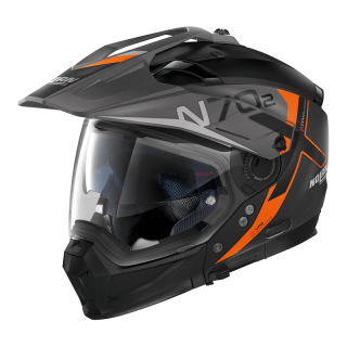 CASCO NOLAN N70.2 X BUNGEE N-COM - FLAT BLACK ORANGE