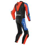 DAINESE LAGUNA SECA 5 1PC PERF LEATHER SUIT - WHITE LIGHT BLUE BLACK FLUO RED - BACK