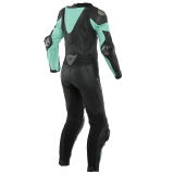DAINESE IMATRA 1PC PERFORATED LADY LEATHER SUIT - BLACK ACQUA-GREEN - BACK