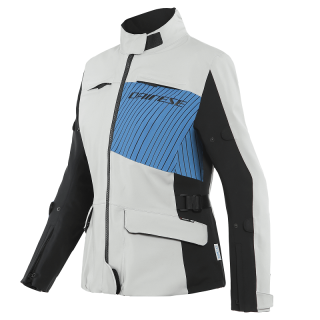 DAINESE TONALE LADY D-DRY XT JACKET - GLACIER-GRAY PERFORMANCE-BLUE BLACK