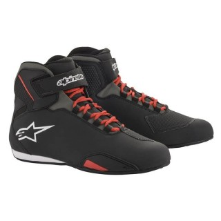 ALPINESTARS SEKTOR RIDING SHOE - BLACK RED