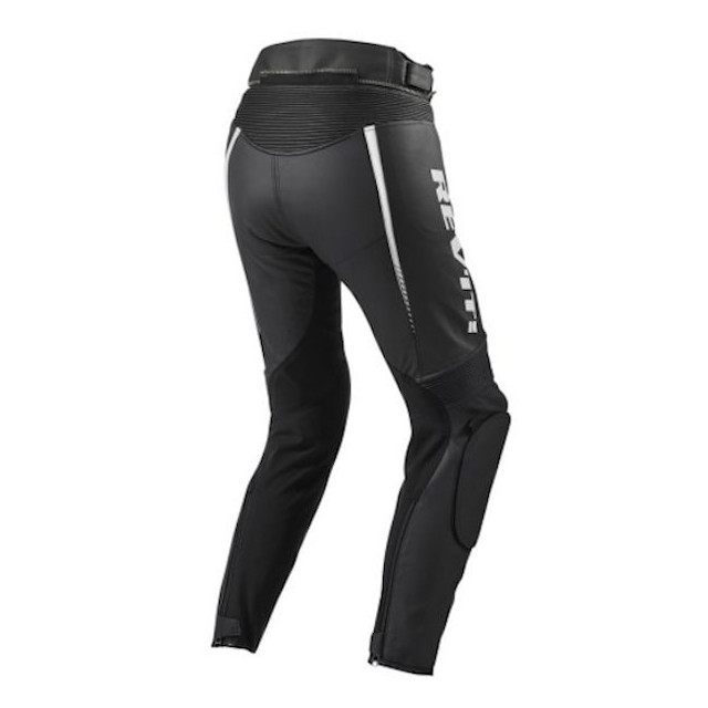 REV'IT PANTALONI XENA 2 DONNA NERO BIANCO - RETRO