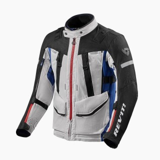 REV'IT SAND 4 H2OUT JACKET - SILVER BLUE