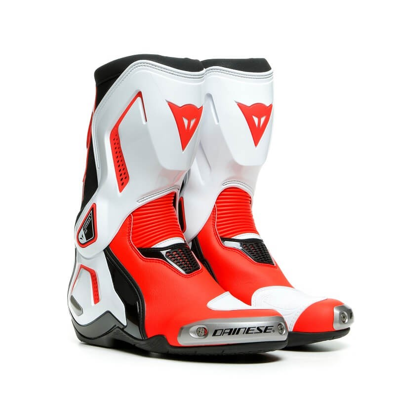 DAINESE TORQUE 3 OUT LADY BOOTS - BLACK WHITE FLUO-RED