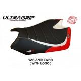 TAPPEZZERIA ITALIA SEAT COVER BARRIE SPECIAL ULTRAGRIP APRILIA RSV4 2009-2020 - WHITE RED