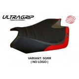 TAPPEZZERIA ITALIA SEAT COVER BARRIE SPECIAL ULTRAGRIP APRILIA RSV4 09-20 - NO LOGO - GREY RED