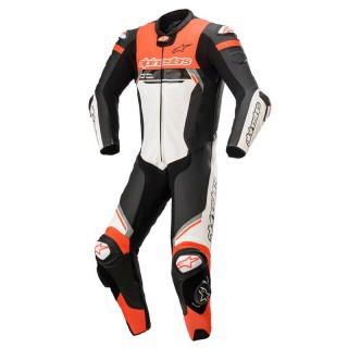 ALPINESTARS MISSILE v2 IGNITION TECH-AIR LEATHER SUIT - BLACK WHITE RED FLUO