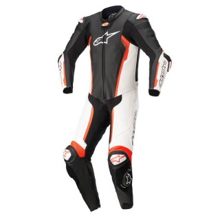 ALPINESTARS MISSILE v2 TECH-AIR LEATHER SUIT - BLACK WHITE RED FLUO