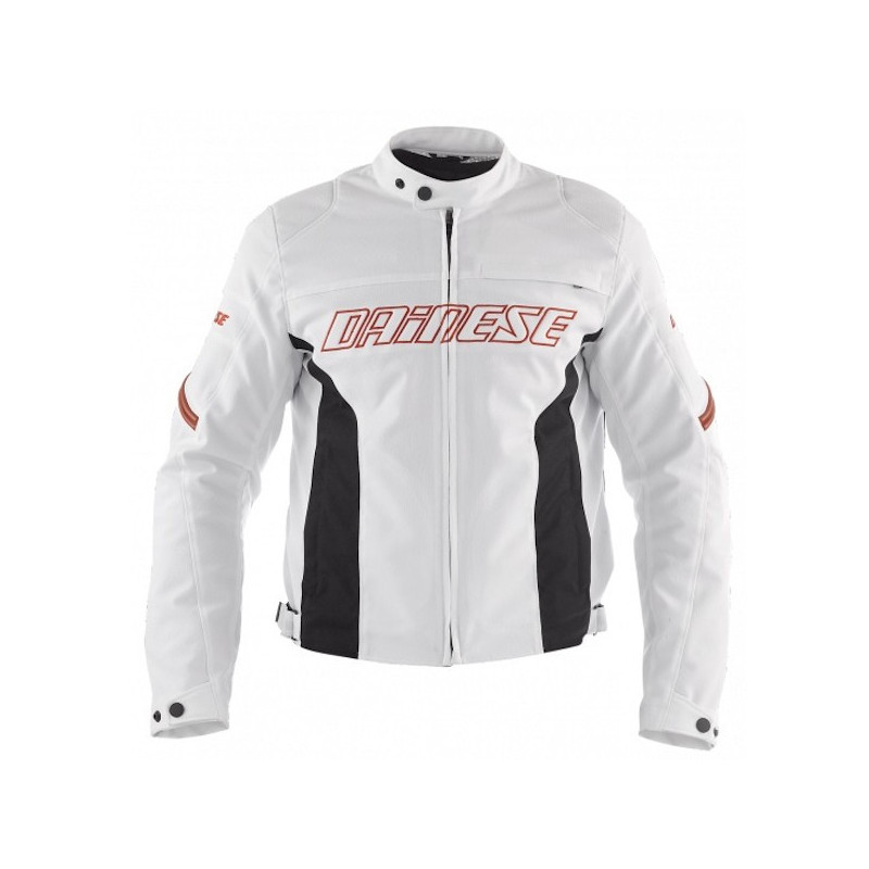 DAINESE RACING TEX - WHITE RED