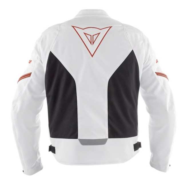 DAINESE RACING TEX WHITE RED - BACK