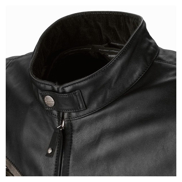 SPIDI ACE LEATHER BLACK - NECK DETAIL